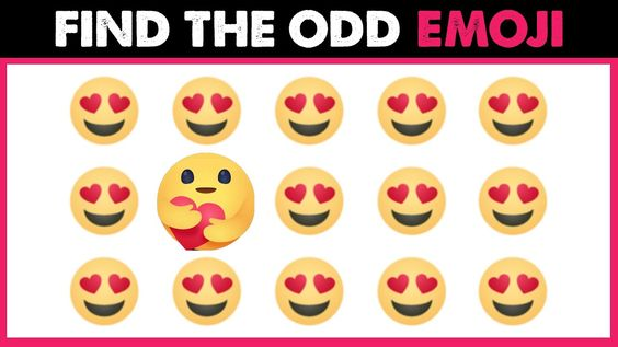 Odd Emoji One Out Can You Find The Different Emoji Spot The Difference Emoji Puzzles Game In 2020 Find The Differences Games Emoji Puzzle Guess The Emoji