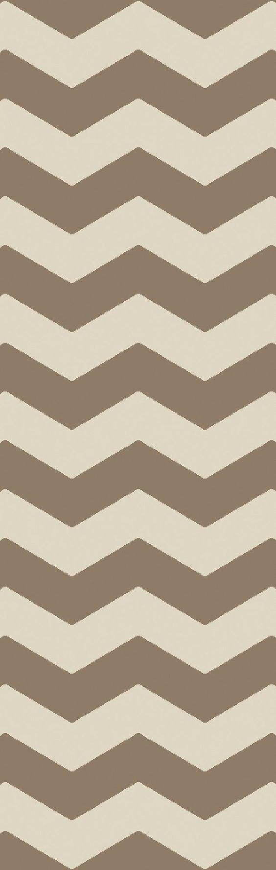 Woodcroft Beige/Brown Chevron Rug