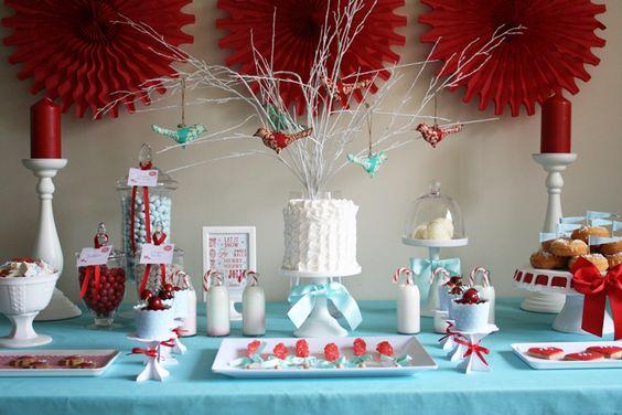 Christmas inspired: Christmas Dessert Tables, Christmas Desserts, Candy Bar, Christmas Desert, Christmas Candy Buffet Ideas, Christmas Table, Party Ideas, Sweet Table