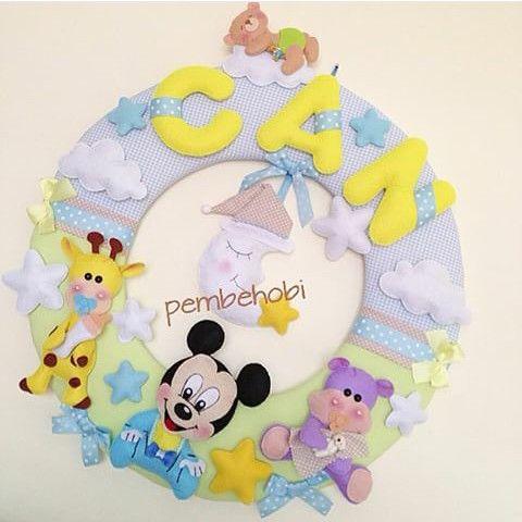 Guirlanda Mickey bebê