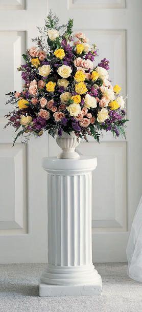 Yellow Pink Purple Altar Flower Arrangement Florals