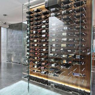 Modern Wine Cellar Hawaii Custom Aluminum Wine Cellar Cabinet - modern - Wine Cellar - Hawaii - Vin de Garde