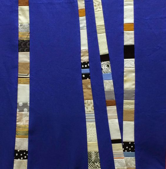 "Birch Trees block by I Quilt For Fun. This started out as a version of ""birch trees""  by Crazy Mom Quilts"