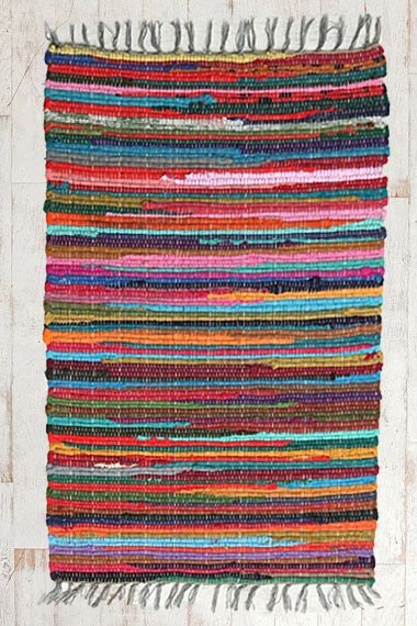 Rainbow Rag Rug at Urban Outfitters