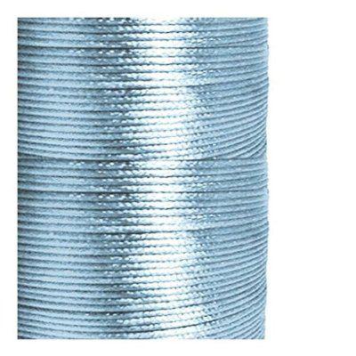 1 mm starke Fädelschnur lang Satin Bettwäsche Hellblau (Rattail) 1 M Kunstpflanze Kunstpalme