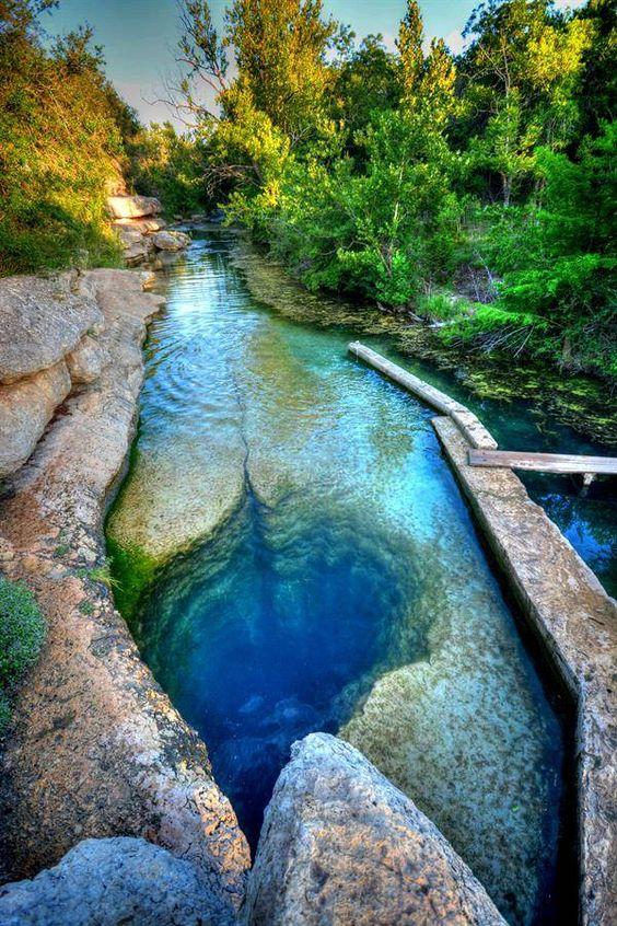 "Jacob's Well, Texas. Also a link to ""You Won't Believe That These 30 Surreal And Beautiful Places Are In The U.S."":"