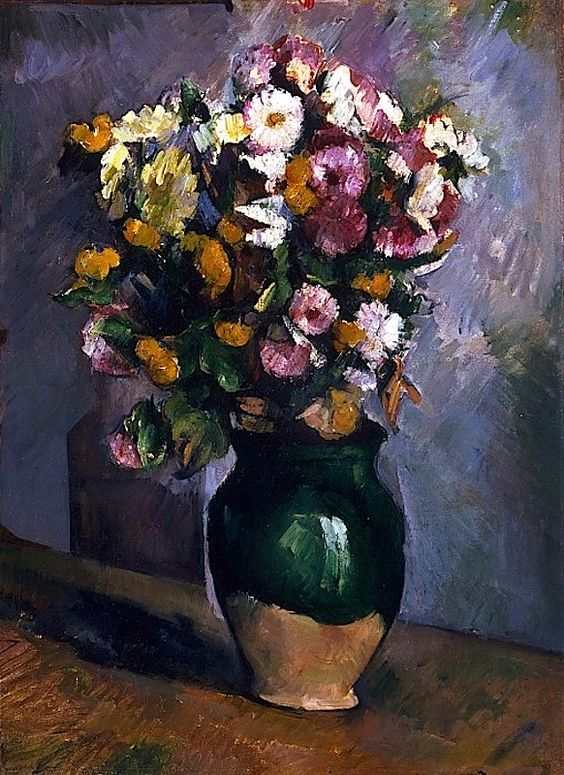 Paul Cézanne, French, 1839-1906 — Still Life with Flowers in an Olive Jar