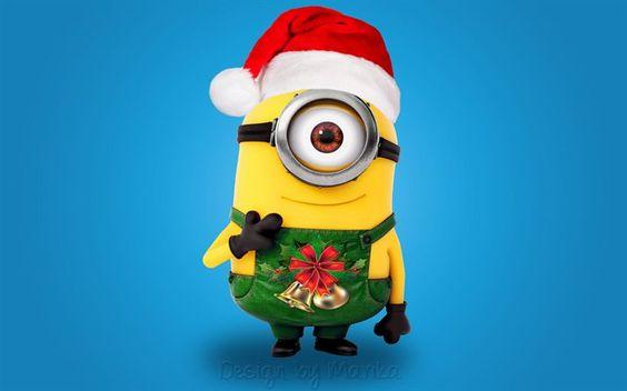 Minions, xmas, Santa, Christmas, Despicable Me