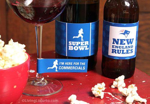 Super Bowl Party Free Printables! Designed by Amy Locurto at LivingLocurto.com
