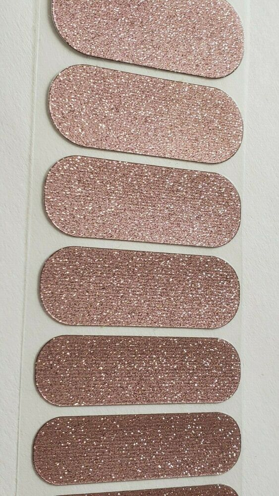 Jamberry Rose Gold Sparkle Partial Sheet Nail Wraps Sparkling Pink Glossy Grey Acrylic Nails Christmas Rose Gold Sparkle Silver Glitter Nails Baby Blue Nails