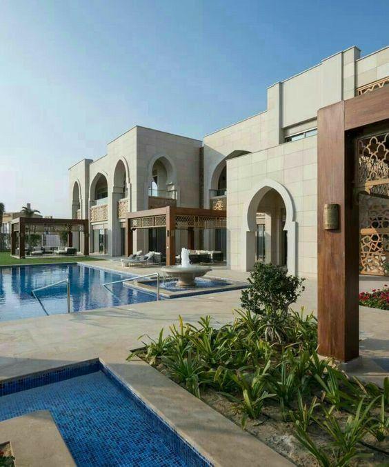 Arabian Islamic Villa Exterior Design Architecture Villa Design Islamic Architecture