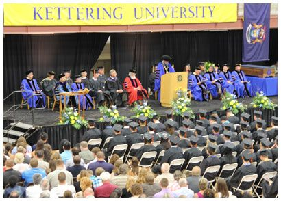 Kettering University graduated 175 undergraduates and 68 master's candidates during Commencement ceremonies June 9, 2012.