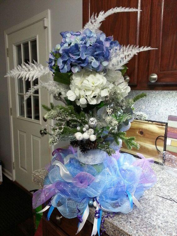 Winter Wonderland arrangement, all clearance items.