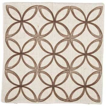 """17 1/2"""" x 17 1/2"""" Natural Embroidered Pillow Cover"""