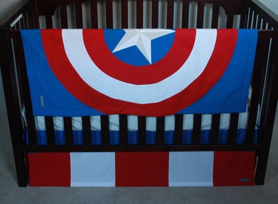 Dulux Marvel Avengers Bedroom In A Box Officially Awesome: Marvel Avengers Baby Bedding--Captain America--Custom Crib