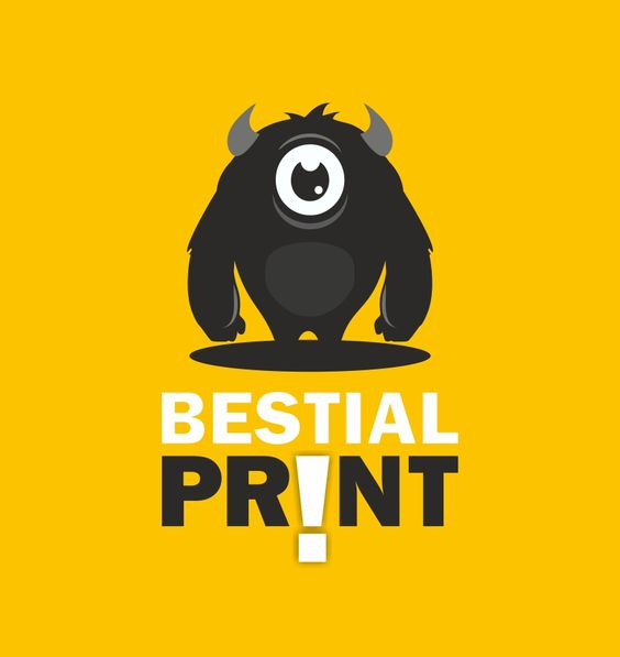 Diseño de logotipo para Bestial Print, empresa dedicada a la impresión en gran formato
