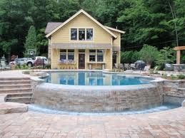 Retaining Wall Ideas For Above Ground Pool Paver Wall Around Above Ground Pool Google Search