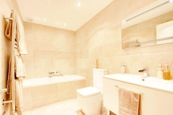 Bathroom victorian terrace neutral bathroom upstairs for Victorian terrace bathroom ideas