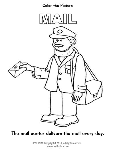 Mail Themed Coloring Page Classroom Centers Activity Centers Teacher Career