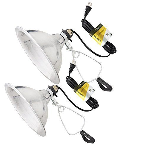 Simple Deluxe Brooder And Heat Clamp Lamp Light 2 Pack With 8 5 Inch Aluminum Reflector 150w With 6 Feet Cord Ul Listed Clamp Lamp Lamp Light Security Lights