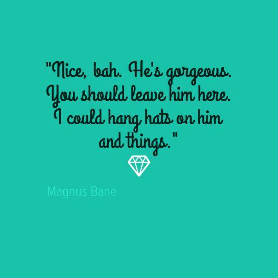 "Magnus Bane On ""Sebastian."" Clary Shoulda Left Him"