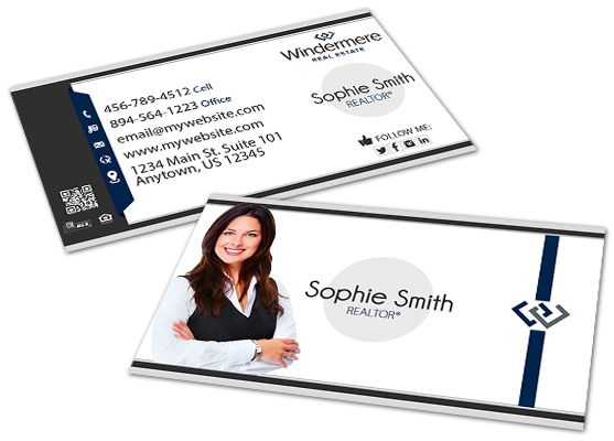 Windermere Real Estate Business Cards 14 Windermere Business Card Realtor Business Cards Real Estate Business Cards Digital Business Card