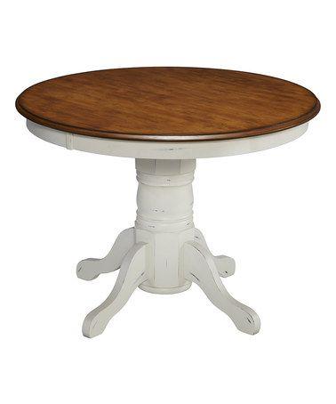 Look at this #zulilyfind! White French Countryside Pedestal Table #zulilyfinds