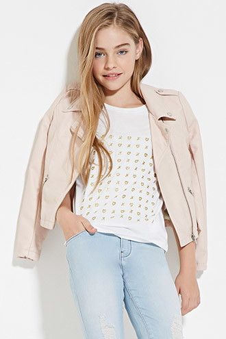Ordered T-shirt for A should arrive by Dec 16th Girls XO Heart Print Tee (Kids) | Forever 21 girls - 2000168440