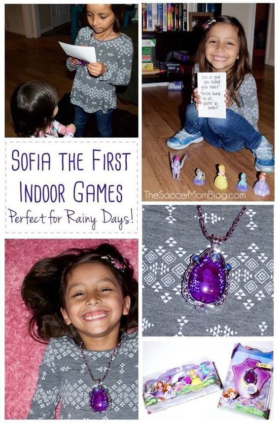 Perfect for rainy days or birthday parties! Sofia the First games and activities for kids of all ages, from toddler through elementary. Easy & inexpensive! #SofiatheFirst #ad