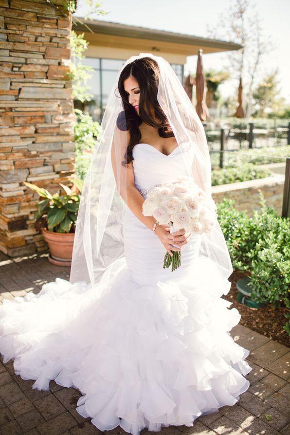 Pink Wedding Dresses Mermaid Style : Sweetheart mermaid style wedding gown with train bride weddingdress