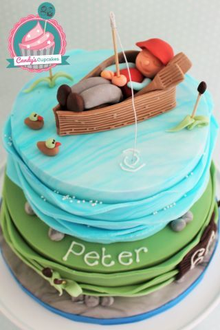 Gone Fishing - Cake by Candy's Cupcakes - CakesDecor
