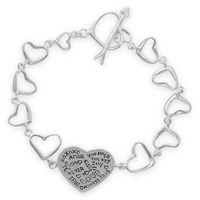 Guardian Angels by Lisa Lopez  - Heart Link Message Bracelet, $46.00 (http://stores.guardianangelsbylisalopez.com/heart-link-message-bracelet/)