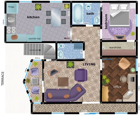 Room layout planner planners and stripes on pinterest for Free virtual floor plan designer