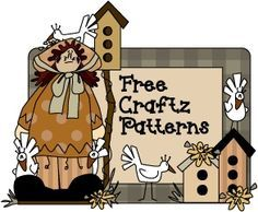 """"""" Free craft patterns and printable crafts - over 80 free Christmas crafts, Thanksgiving crafts, Halloween crafts and more. Tole painting, wood craft patterns and primitive stitchery.""""."""