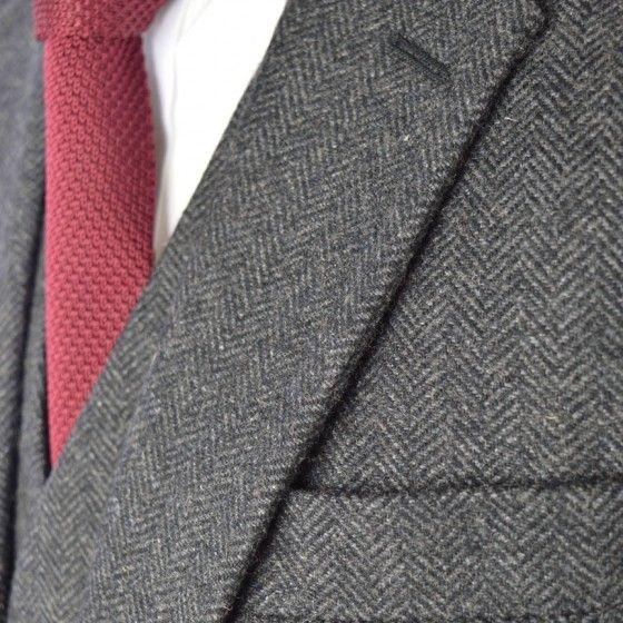Classic Charcoal Herringbone Tweed Suit Tweed Suits Herringbone Tweed Mens Fashion Sweaters