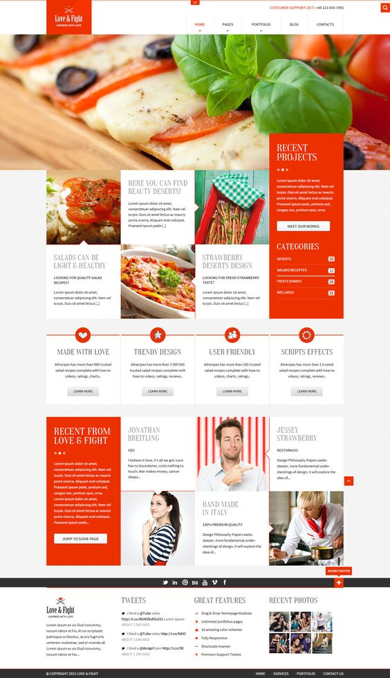 LOVE & FIGHT #Template,  #Blog, #Free, #Layout, #Portfolio, #PSD, #Red, #Resource, #Web #Design