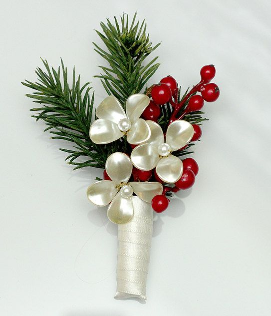 Christmas Bouquet Winter Wedding Holiday by BridalBouquetsbyKy