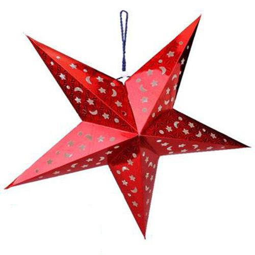 Details About 3d Laser Paper Star Lampshade Lantern Xmas Wedding Party Home Bar Hanging Decor With Images Xmas Tree Ornament Star Lampshade Christmas Ornaments