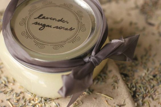 Very simple sugar scrub - how about brown sugar and vanilla??? Or unrefined coconut oil and a citrus essential oil?