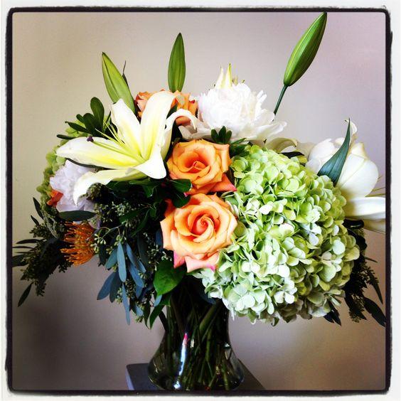 lilies, roses, hydrangea - Love In Bloom, Key West