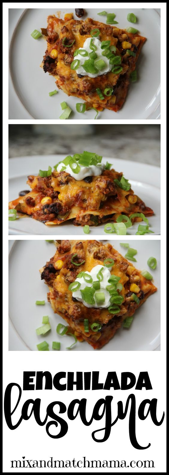 Enchilada Lasagna is the perfect recipe for your fall!: