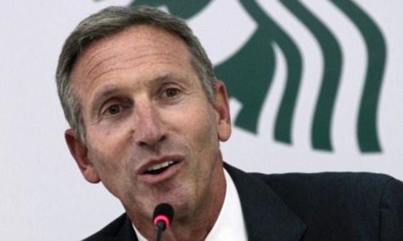 Howard Schultz also criticised the U.S. government saying they do a better job of sending people to war than bringing them back from the front line.