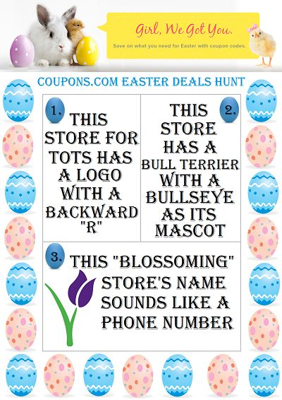 Easter Treats for Kids + Join Coupons.com Easter Deals Hunt $400 Amazon Giveaway #Coupons.com #EasterDealsHunt #SPONSORED April 7 12:01 AM EST – April 21, 2014 11:59 PM EST. US ONLY http://madamedeals.com/?p=489077 #inspireothers
