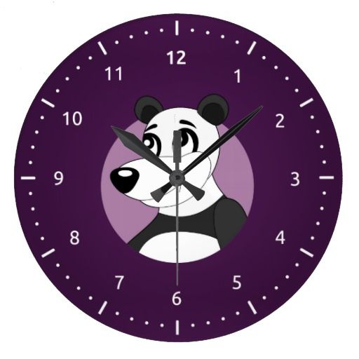 Panda cartoon Clock