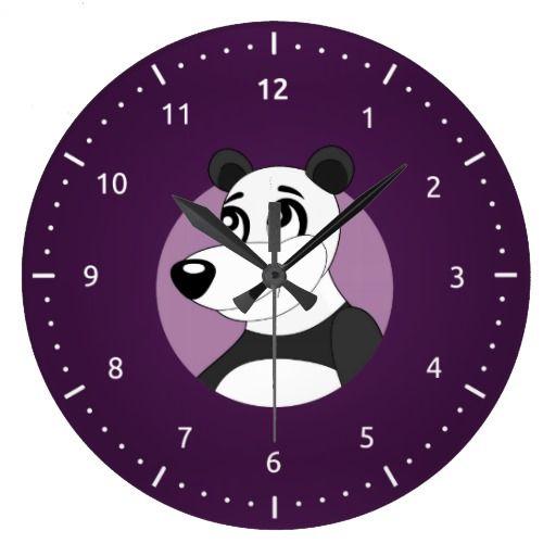 Panda cartoon Clock