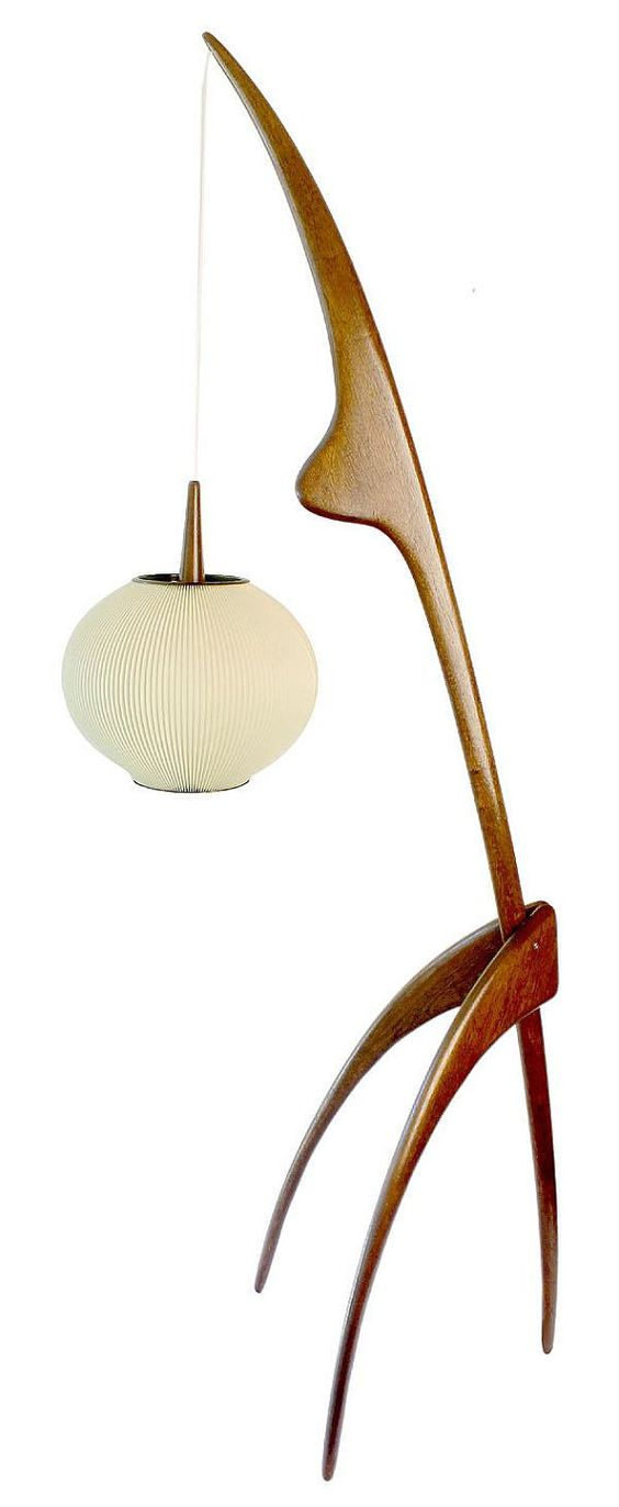 mid century danish rispal praying mantis floor lamp on etsy 3. Black Bedroom Furniture Sets. Home Design Ideas