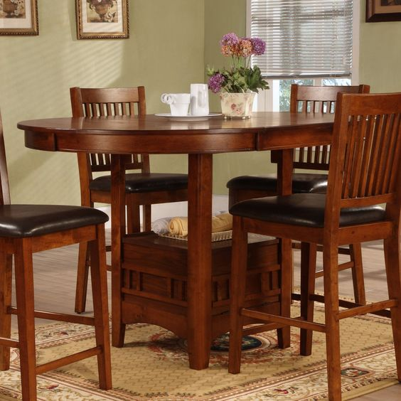 Have to have it. Graham 60 in. Oval Counter Height  Table with Leaf $399.99