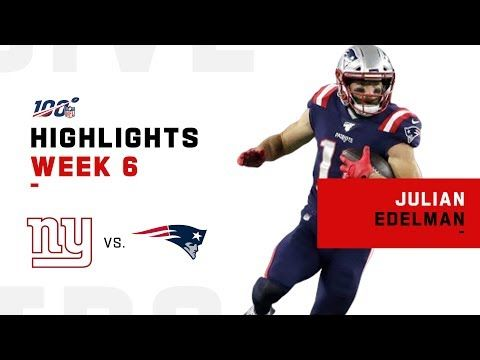 Julian Edelman Makes Moves W 113 Yards Nfl 2019 Highlights Youtube Julian Edelman Nfl Julian