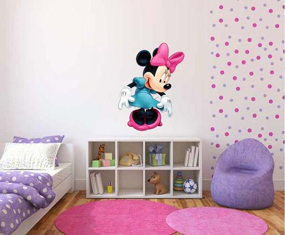 minnie mouse room decor minnie mouse and mice on pinterest. Black Bedroom Furniture Sets. Home Design Ideas