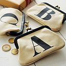 personalized nitial coin purse